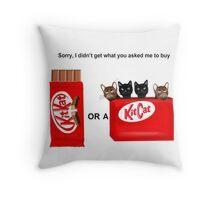 Kit Kat or Kit Cat Throw Pillow