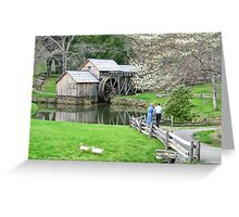 Spring Comes to Mabry  Mill Greeting Card
