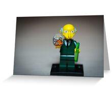 Mr Burns Greeting Card