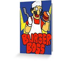 Burger Boss Greeting Card