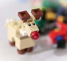 Lego Rudolf the Red Nose Reindeer by garykaz