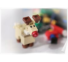 Lego Rudolf the Red Nose Reindeer Poster