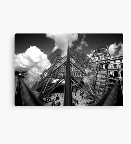Louvre Pyramid (Symmetry) Canvas Print