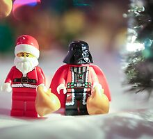 Santa and Darth Vader by garykaz