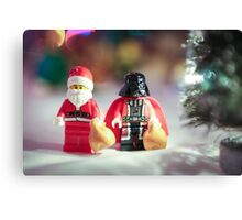 Santa and Darth Vader Canvas Print
