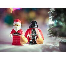 Santa and Darth Vader Photographic Print