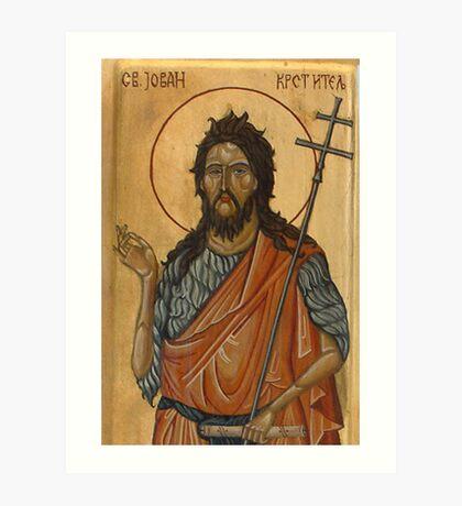 Saint John, detail Art Print