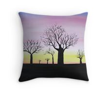 Boab Field Outback Horizon Throw Pillow