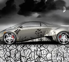 Lambo art TWO by John Helman