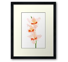 Three Friends - JUSTART © Framed Print