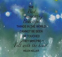 sdd Abstract w Helen Keller quote 53G by mandalafractal
