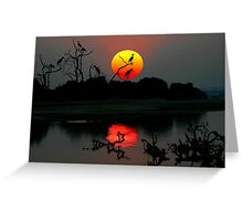 ZAMBIA SUNSET Greeting Card