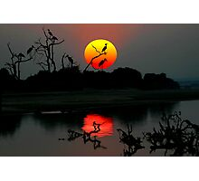ZAMBIA SUNSET Photographic Print
