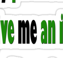 If my *PERSONALITY* can't *GIVE* me *AN IMAGE*... I don't want one!  Sticker