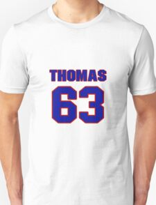 National baseball player Justin Thomas jersey 63 T-Shirt