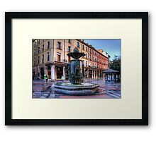 Golden Fountain Square Framed Print