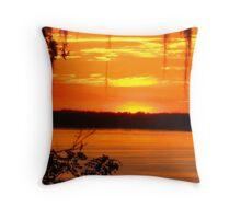 "Blazing Sunset"" Throw Pillow"