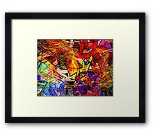 Stained Glass Graffiti Framed Print