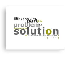 Solution Canvas Print