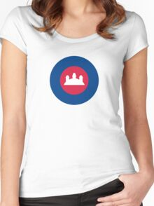 Royal Cambodian Air Force Roundel Women's Fitted Scoop T-Shirt