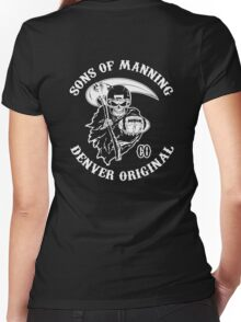 Sons Of Manning Women's Fitted V-Neck T-Shirt