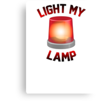 Light My Lamp Canvas Print