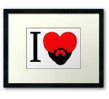 I Heart Beard. Framed Print