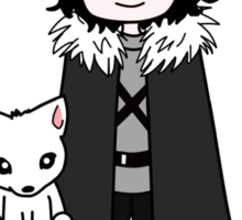 You know 'muffins' Jon Snow Sticker