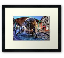 Fountain at the Bus Station Framed Print