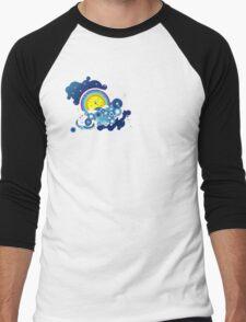 clouds of blue Men's Baseball ¾ T-Shirt