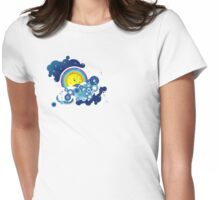 clouds of blue Womens Fitted T-Shirt