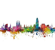 Barcelona Spain Skyline Photographic Print