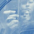 Blue: Self Portrait with Camera Phone by CDCcreative