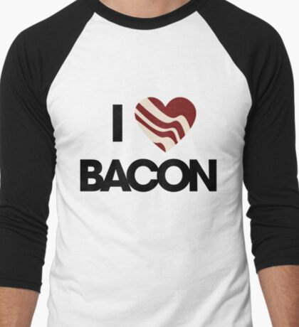 I love BACON Men's Baseball ¾ T-Shirt