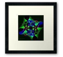 Fractal Florals - Green Revolution Framed Print