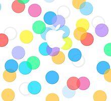 Apple Logo Colorful Dots Pattern  by zeeshanahmad88