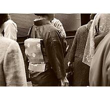 Sepia Kimono Photographic Print