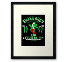 Yoshi Island Fighter Framed Print