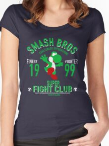 Yoshi Island Fighter Women's Fitted Scoop T-Shirt