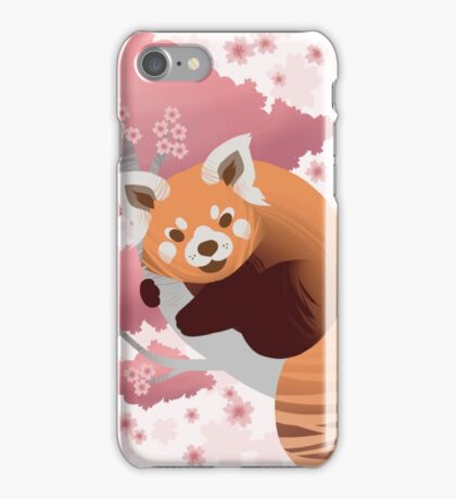 Red Panda & Cherry Blossom iPhone Case/Skin