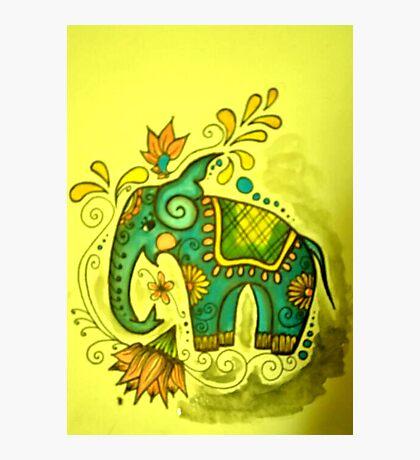 Illustration no.2 Indian Blue Elephant  Photographic Print