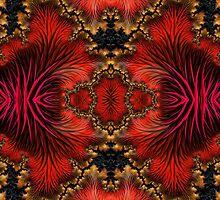 3D RED FRACTAL MODERN ART, DUVET, PILLOWS, GIFTS by ackelly4