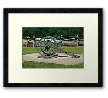 Cannon fire Gettysburg Framed Print