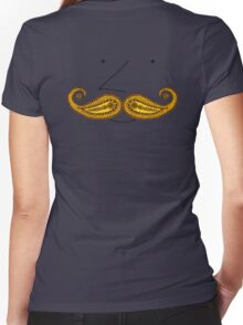 Paisley Mustache Women's Fitted V-Neck T-Shirt
