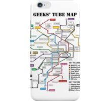 Geeks' Tube Map iPhone Case/Skin