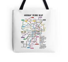 Geeks' Tube Map Tote Bag
