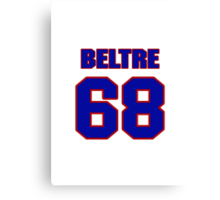 National baseball player Omar Beltre jersey 68 Canvas Print