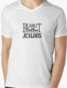 Peanut Butter & Jealous Mens V-Neck T-Shirt