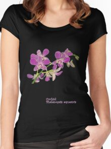Orchid: Phalenopsis equestris Women's Fitted Scoop T-Shirt