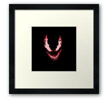 Face of evil Framed Print